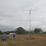 The mast and beam with dipoles etc