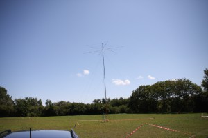 The GARS folding hex-beam and mast, also supported dipoles for 80m and 40m.