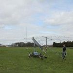 20m Spiderbeam and 10m Yagi atop the NN4ZZ Hexlock